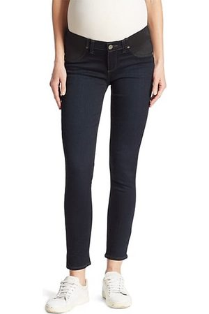 Paige Verdugo Mid-Rise Ankle Skinny Maternity Jeans