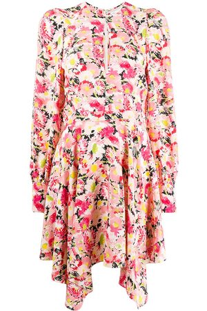 Stella McCartney Floral-print asymmetric dress
