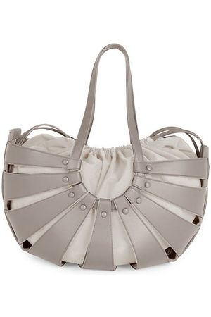 Bottega Veneta Medium Shell Leather Tote