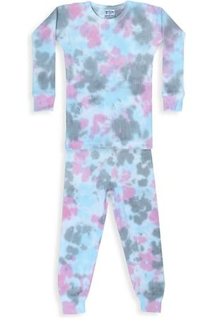 B.Steps by Baby Steps Baby's, Little Girl's & Girl's 2-Piece Tie-Dye Thermal Pajama Set