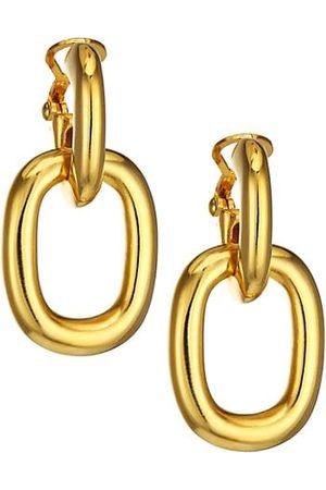 Kenneth Jay Lane Polished Doorknocker Earrings