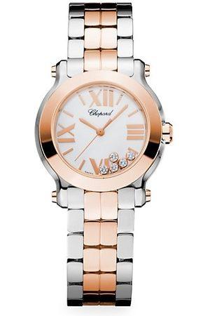 Chopard Happy Sport Mini New Generation 18K , Stainless Steel & Diamond Bracelet Watch