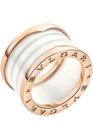 Bvlgari B.zero1 18K & White Ceramic 4-Band Ring