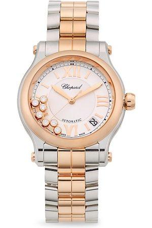 Chopard Happy Sport 18K , Stainless Steel & Diamond Bracelet Watch