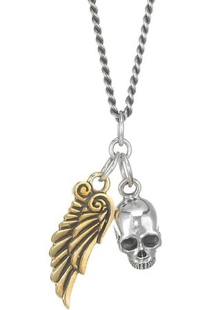 King Baby Studio Two-Tone Skull & Wing Pendant