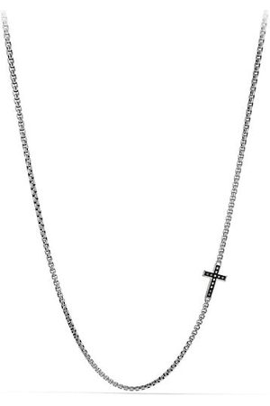 David Yurman Pavé Black Diamond Cross Necklace