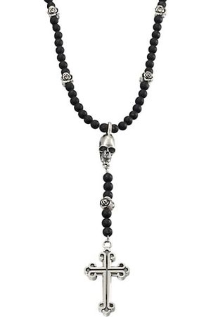 King Baby Studio Onyx Beaded Rosary Necklace