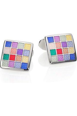 David Donahue Multicolored Checkered Cuff Links