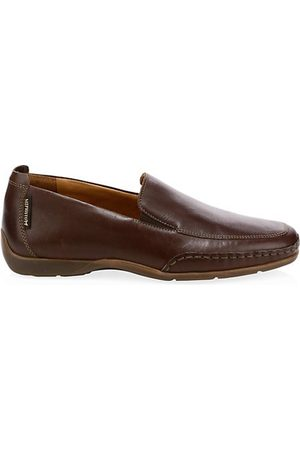 Mephisto Square Toe Leather Loafers