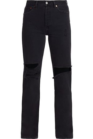 RE/DONE High-Rise Distressed Straight Jeans