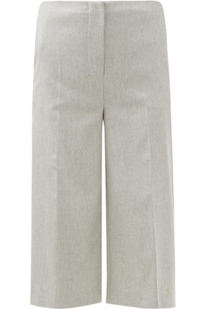 Altuzarra Sam Cropped Straight-leg Trousers - Womens - Light