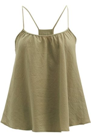 Loup Charmant Women Cami Tops - Scoop-neck Organic-cotton Cami Top - Womens