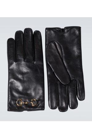 Gucci Horsebit leather gloves
