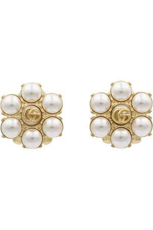 Gucci GG faux pearl clip-on earrings
