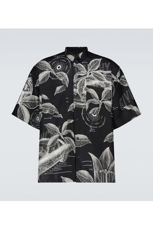 Givenchy Silk printed short-sleeved shirt