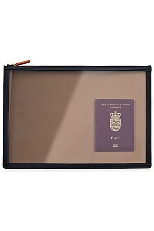 Stow Men Wallets - See-View Leather-Trim Clear Folio