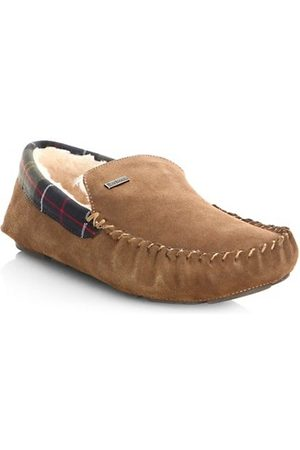 Barbour Men Slippers - Monty Faux Fur-Lined Moccasin Slippers