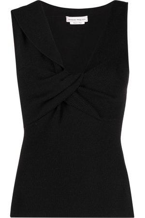 Alexander McQueen Knitted V-neck top