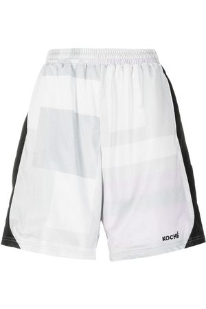 KOCHÉ Embroidered logo shorts