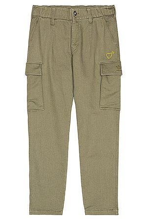 adidas x HUMAN MADE 5 Pocket Pant in Olive
