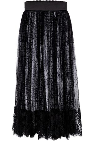 Dolce & Gabbana Point d'esprit tulle midi skirt