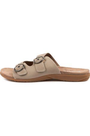 KUMFS Koriella Km Khaki Sandals Womens Shoes Sandals Flat Sandals