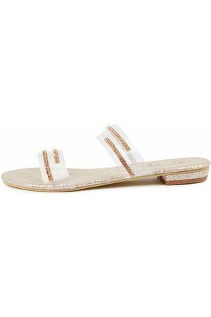 Laguna Quays Goldy W Lq Rose Diamonte Sandals Womens Shoes Dress Sandals Flat Sandals
