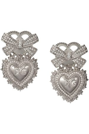 Dolce & Gabbana 18kt white gold Devotion diamond sacred heart earrings