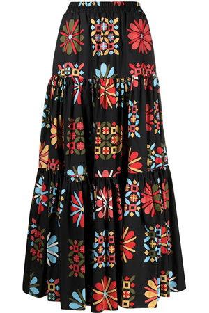 La DoubleJ Floral panelled skirt