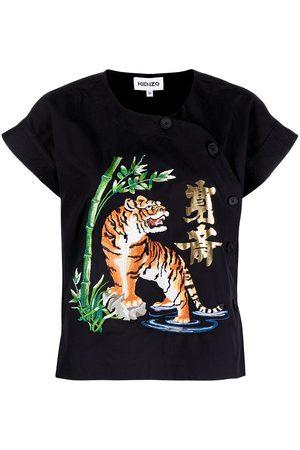 Kenzo Women Short Sleeve - Embroidered design T-shirt
