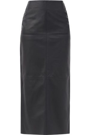 Raey Women Maxi Skirts - Eco-tanned Leather Maxi Skirt - Womens - Navy