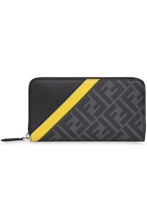 Fendi Men Wallets - Zip around leather wallet