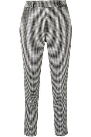 Twin-Set Women Formal Pants - Houndstooth tapered trousers