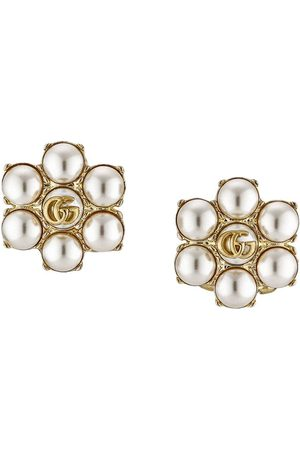 Gucci Pearl double G earrings