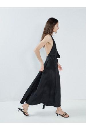 Raey Halter-neck Draped-front Wraparound Silk Dress - Womens