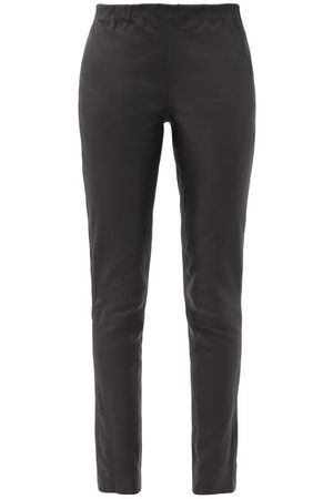Raey Eco-tanned Leather Leggings - Womens