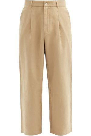 Raey Cotton And Linen-blend Wide-leg Trousers - Mens