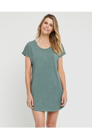 Bamboo Body Women Nightdresses & Shirts - Niah Night Dress - Sleepwear (Moss ) Niah Night Dress
