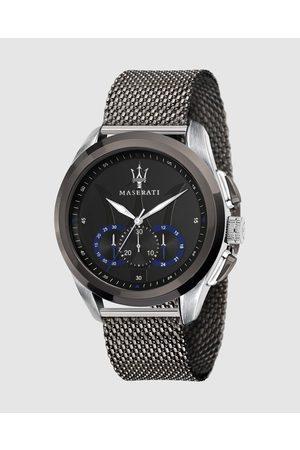 Maserati Traguardo 45mm Blue Steel Mesh Watch - Watches Traguardo 45mm Blue Steel Mesh Watch