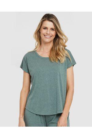 Bamboo Body Women Nightdresses & Shirts - Lounge Tee - Sleepwear (Moss ) Lounge Tee