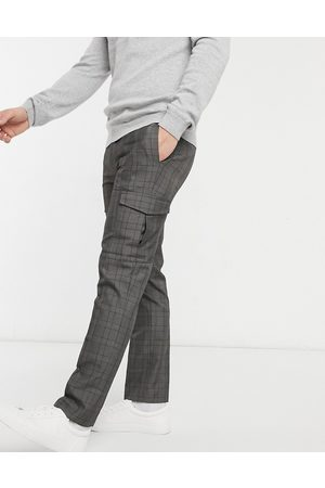 Burton Smart check pants with cargo pockets in grey