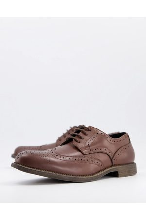Truffle Collection Formal lace up brogues in tan