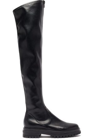 Gianvito Rossi Women Knee High Boots - Marsden Zip-front Leather Over-the-knee Boots - Womens