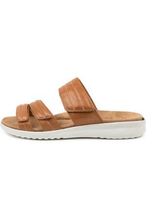 Ziera Women Flat Shoes - Barbra Xw Zr Tan Sole Sandals Womens Shoes Sandals Flat Sandals