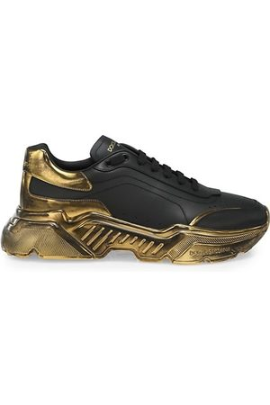 Dolce & Gabbana Men Sneakers - Metallic-Trim Low-Top Sneakers
