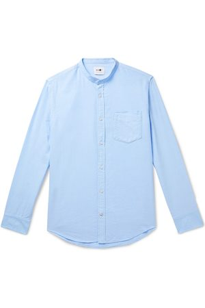 NN.07 Men Casual - Justin Grandad-Collar Cotton-Oxford Shirt