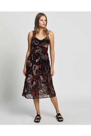 LENNI the label Firefly Burnout Slip Dress - Dresses (Rose) Firefly Burnout Slip Dress