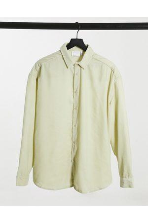 ASOS 90s oversized velvet shirt in champagne-Beige