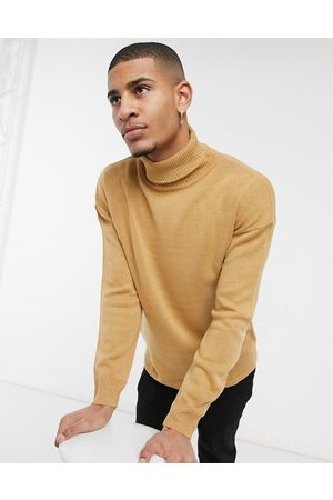 Another Influence Roll neck jumper in tan