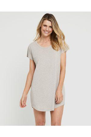 Bamboo Body Women Nightdresses & Shirts - Niah Night Dress - Sleepwear (Oatmeal) Niah Night Dress